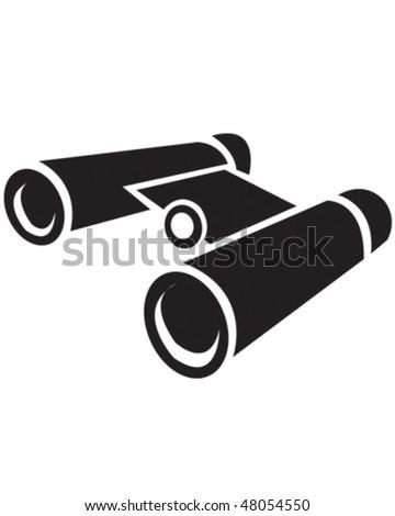 Binnoculars - stock vector