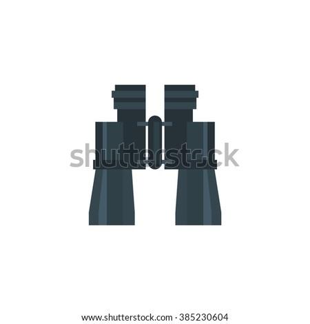 Binocular Field Glasses Flat design Vector Illustration - stock vector