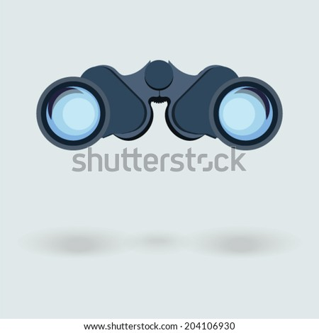 Binocular icon stock vector