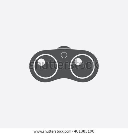 Binoculars icon. - stock vector