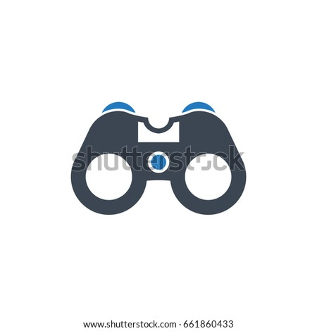 binoculars icon vector - photo #27