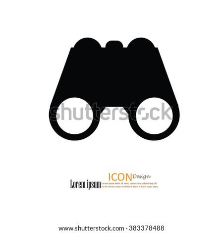 binoculars icon.binocular.vector illustration. - stock vector