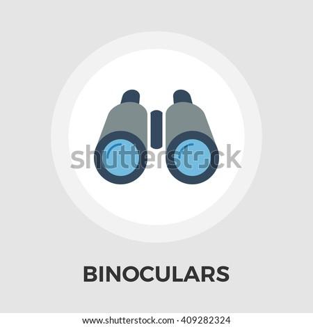 Binoculars Icon Vector.  - stock vector