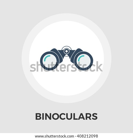 Binoculars Icon Vector. Flat icon isolated on the white background. Editable EPS file. Vector illustration. - stock vector