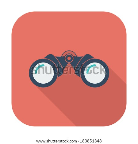 Binoculars. Single color flat icon. Vector illustration. - stock vector