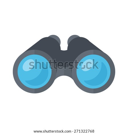 Binoculars spy glasses. Isolated icon pictogram. Eps 10 vector illustration. - stock vector