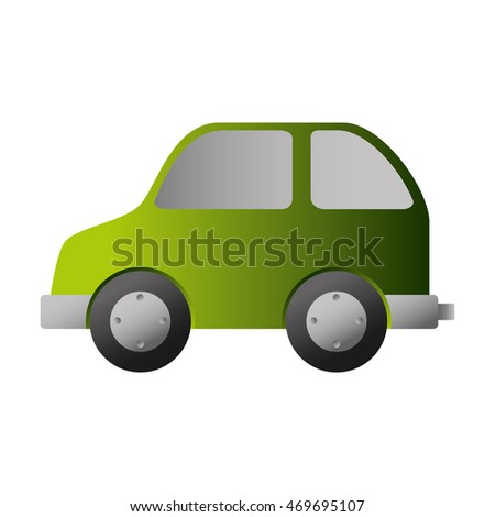 bio car green auto vehicle eco nature environmental vector illustration isolated