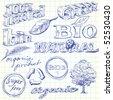 bio doodles - stock photo