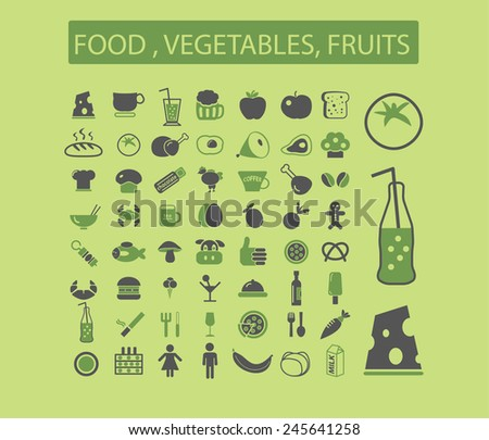 bio food, vegetables, fruits, product store, grocery, drinks, cheese, milk, pizza, cafe, restaurant web icons, signs, illustration isolated on background set, vector - stock vector