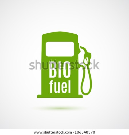 Bio fuel pump. Vector illustration - stock vector