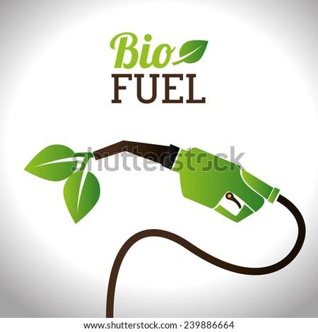 Bio fuel vector illustration design - stock vector