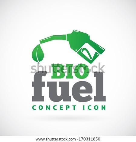 Bio fuel vector symbol icon or logo  - stock vector