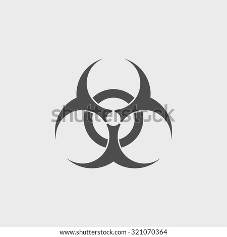 Bio hazard icon - vector web illustration, easy paste to any background.