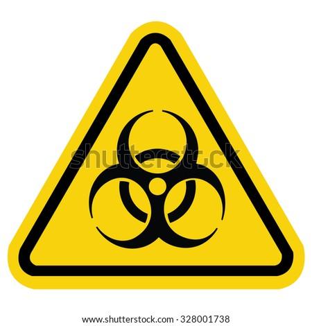 Bio hazard symbol sign - stock vector