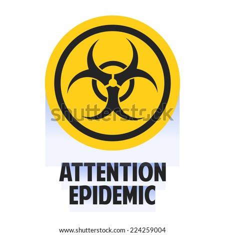 Bio hazard symbol. Virus, infection, bacteria, contagion, toxic, waste, quarantine, contamination, epidemic concepts - stock vector