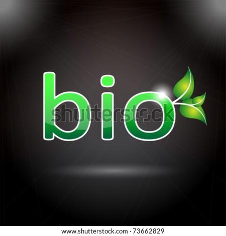 bio icon - stock vector
