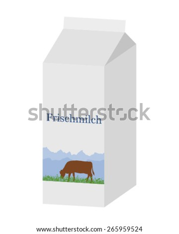Bio milk carton - stock vector