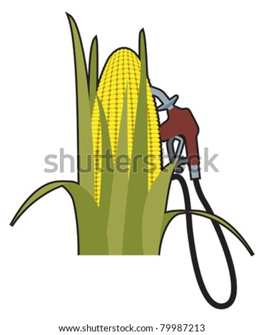 Biofuels alternative to gasoline - stock vector