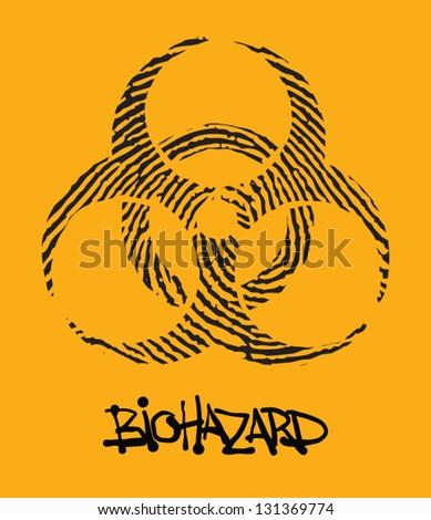 biohazard - stock vector