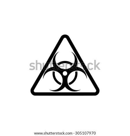 Biohazard. Black simple vector icon - stock vector