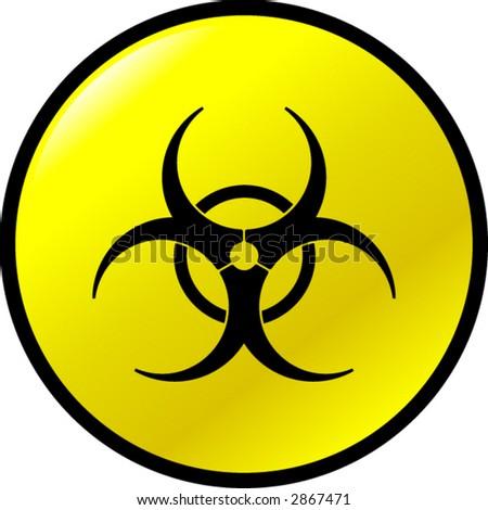 biohazard button - stock vector