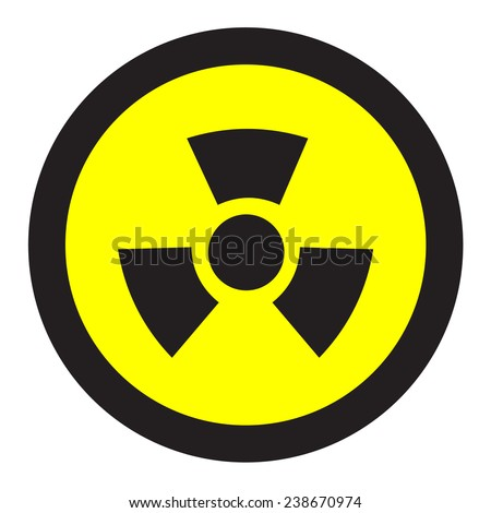 Biohazard icon great for any use. Vector EPS10. - stock vector