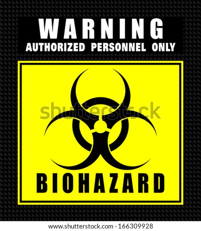 Biohazard, icon vector - stock vector