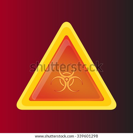 Biohazard icon, vector illustration. Flat design style - stock vector