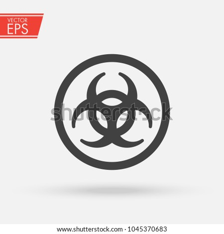 Biohazard Ionizing Radiation Logo Warning Attention Stock Vector