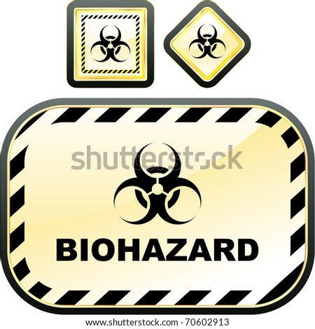 Biohazard signs. Vector illustration. - stock vector