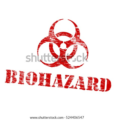 Biohazard symbol grungy rubber stamp symbol vector illustration
