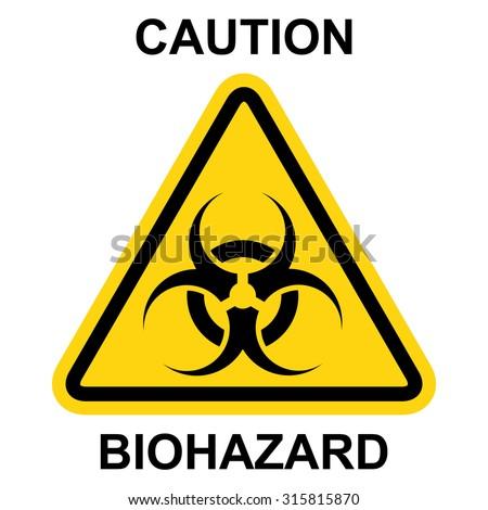 Biohazard symbol, sign of biological threat alert . Vector illustration - stock vector