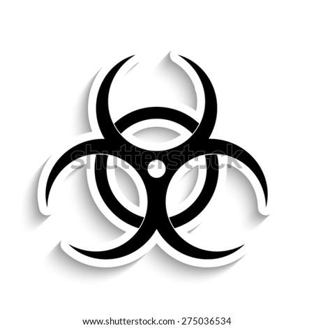Biohazard symbol  - vector icon - stock vector