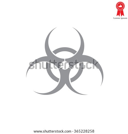 Biohazard symbol vector sign isolated