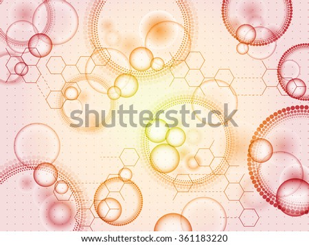 biological background  - stock vector