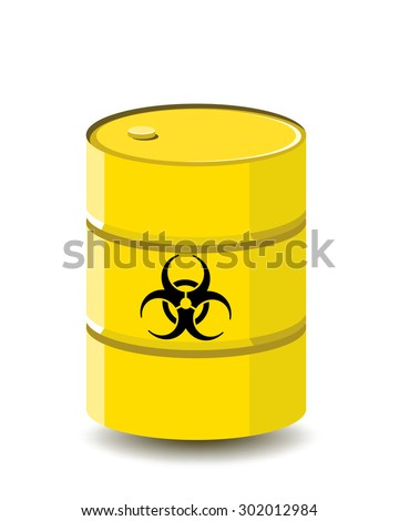 biological hazard or biohazard barrel  - stock vector
