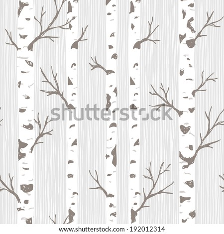 Birch Tree Pattern - stock vector