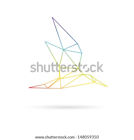 Bird abstract isolated on a white background - stock vector