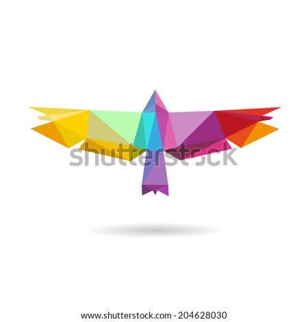 Bird abstract isolated on a white backgrounds, vector illustration - stock vector