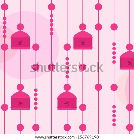 Bird cages. Birds out of their cages  - stock vector