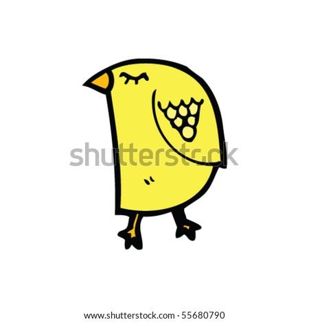 bird cartoon - stock vector