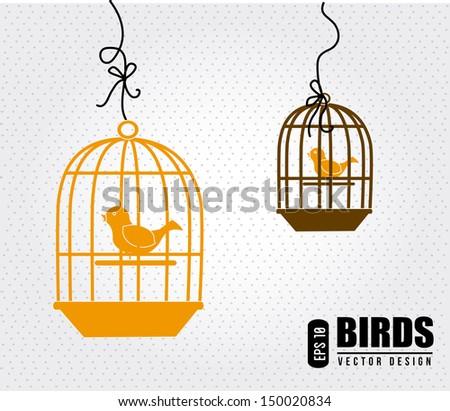 bird design over white background vector illustration   - stock vector