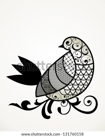 Bird graphic design - stock vector