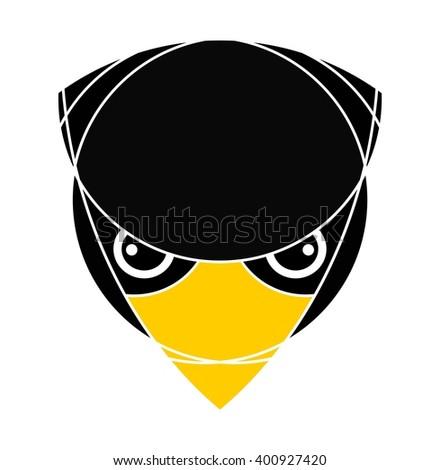 Bird head. Raptor head. Isolated. Logo icon design.  - stock vector