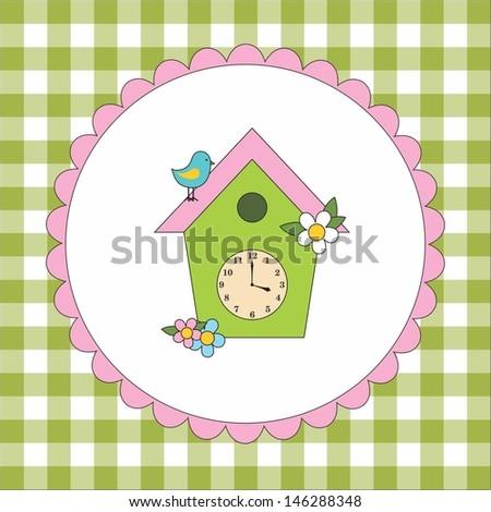 Bird house - stock vector