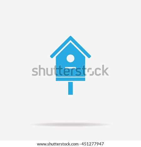 Bird house icon. Vector concept illustration for design.