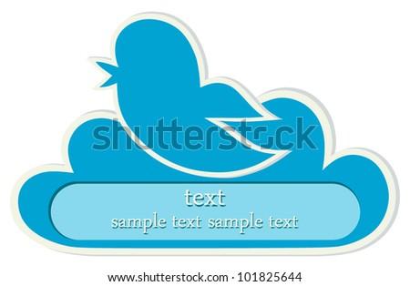 Bird Icon - stock vector