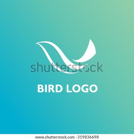 Bird logo - stock vector