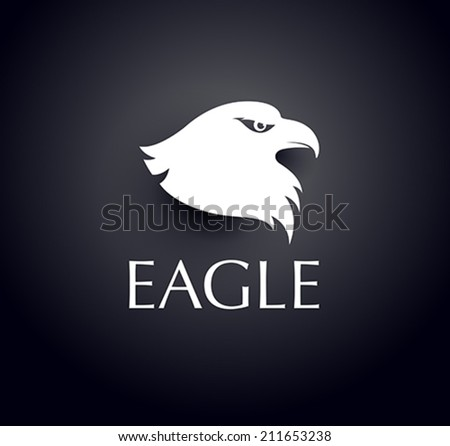 bird logo - vector eagle head icon - stock vector