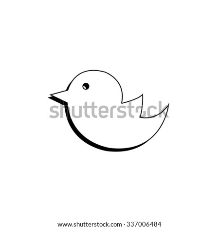 bird - vector icon